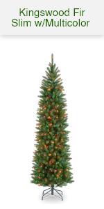 Kingswood Pencil Tree w/ multi color lights