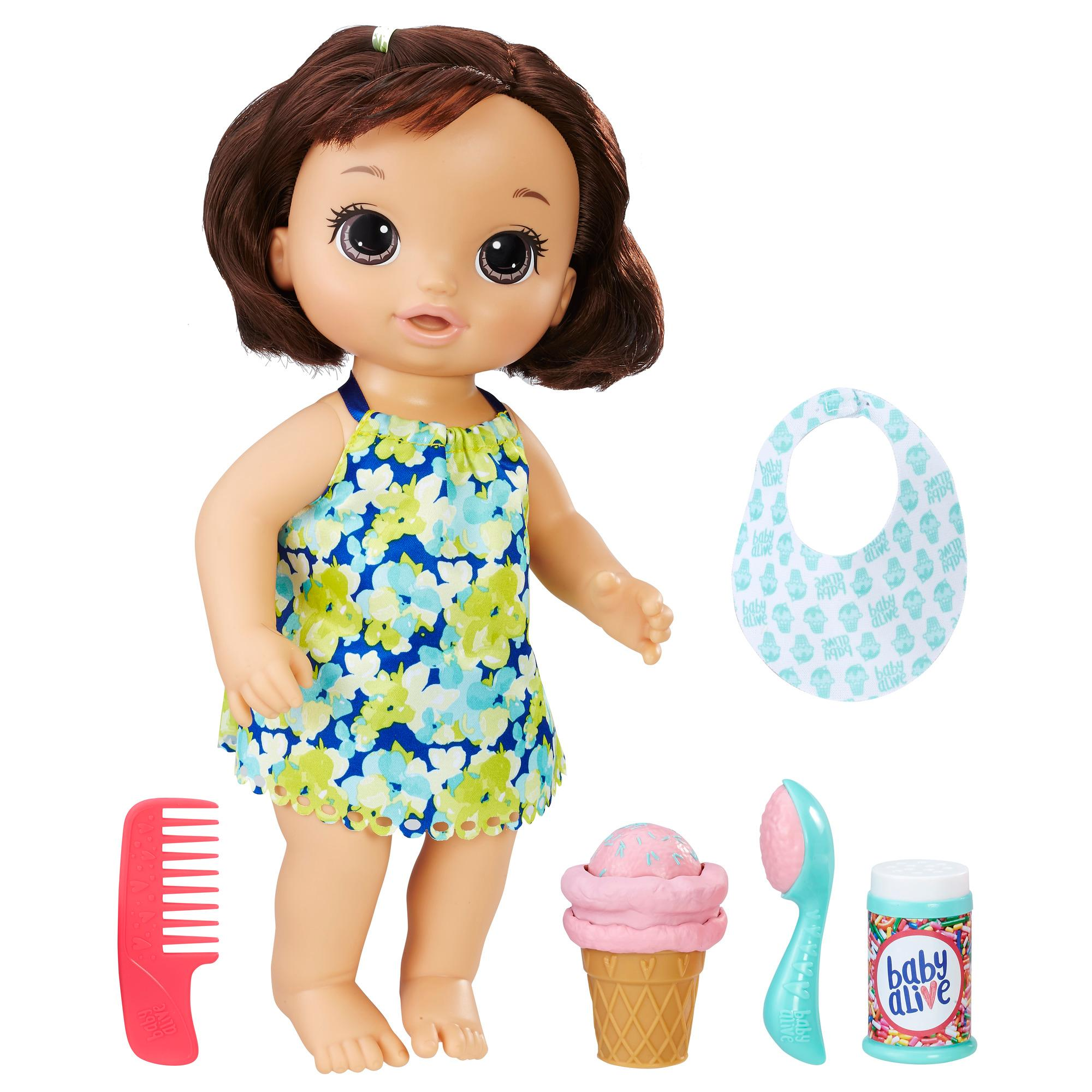 Amazon Com Baby Alive Magical Scoops Baby Brunette Baby