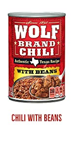 Wolf Brand Canned Chili with Beans