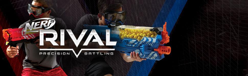mascara; rival; compañia fantasma; rivales; pistolas nerf azules; lanzador hasbro