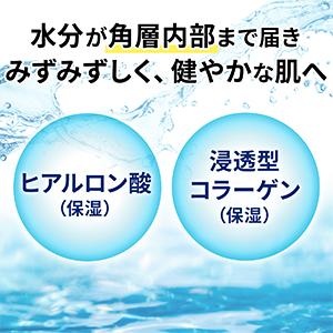 水分が角層内部まで届きみずみずしく、健やかな肌へ