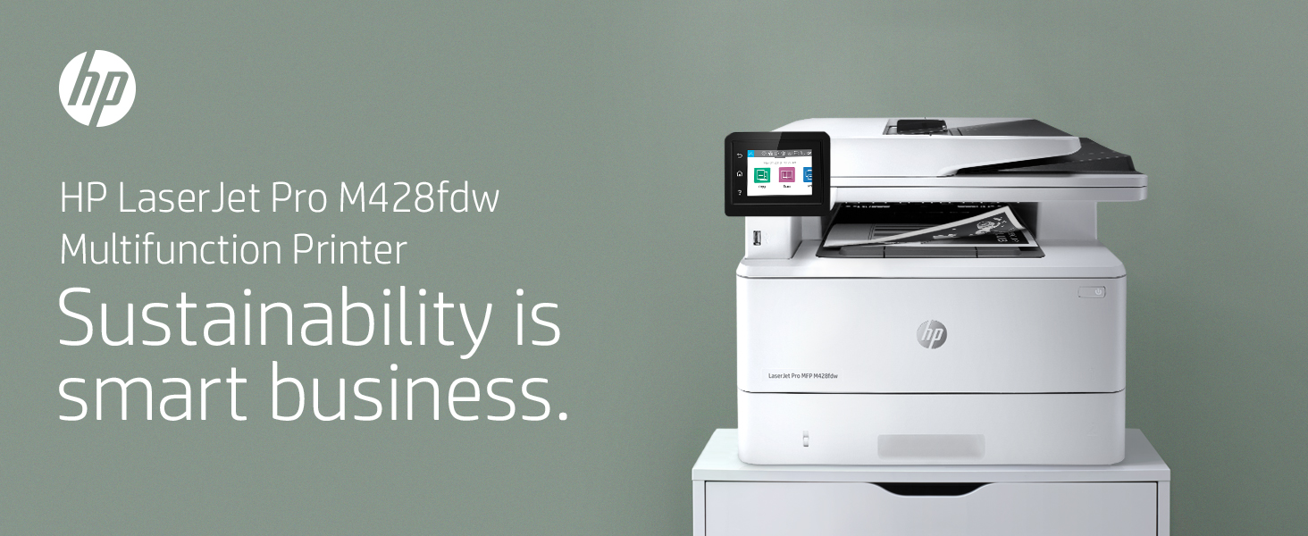HP LaserJet Pro M428fdw business multifunction printer work workload focus Sustainability MFP