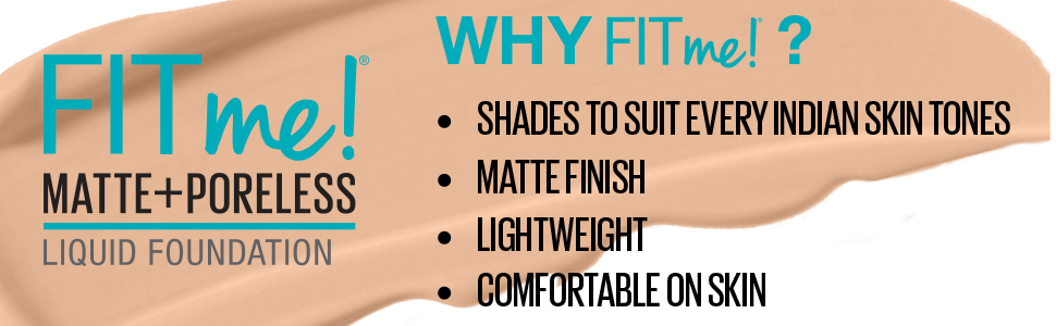 FIT ME FOUNDATION MAYBELLINE