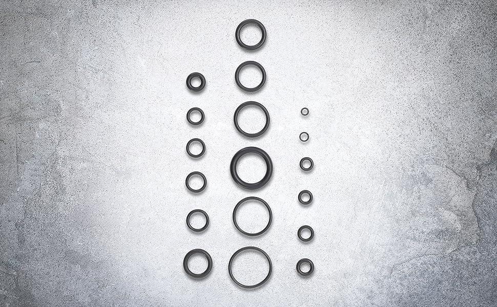 Bgs 8044 O Ring Sortiment 225 Tlg Ø 3 22 Mm Aus Nbr Gefertigt Inkl Sortimentskasten Baumarkt