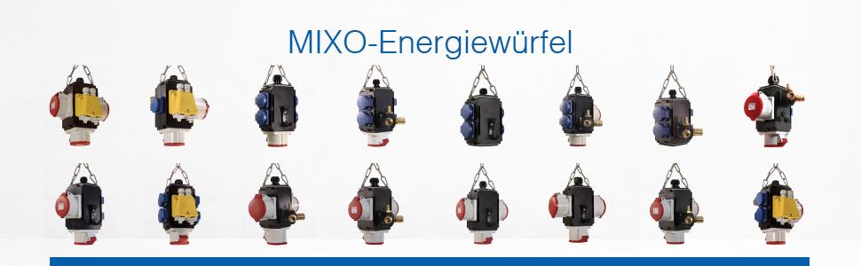 3 Schuko-Steckdosen as 2 CEE-Dosen /& Schuko-Stecker 230 V // 16 A Schwabe H/ängeverteiler Brocken IP44 Strom- /& Druckluftverteiler mit 3 m Anschlussleitungen Schwarz I 60976