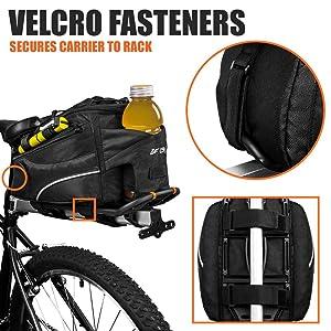 Amazon.com   BV Bike Commuter Carrier Trunk Bag with Velcro Pump ... 0684f357c1d1f