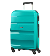 Bon air; American Tourister; Turquoise; spinner m; suitcase; medium; check-in