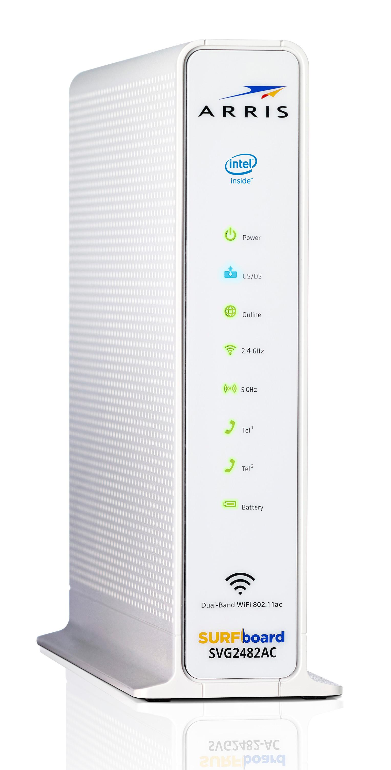 arris surfboard svg2482ac docsis 30 cable modem wifi router xfinity voice voip for xfinity. Black Bedroom Furniture Sets. Home Design Ideas