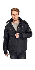 Men's ski fleece jacket
