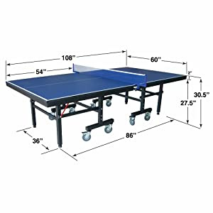 Hathaway victory professional 9 39 table tennis table with 25mm thick surface 2 - Dimensions of a table tennis board ...