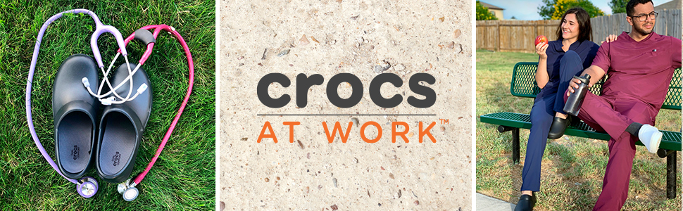 crocs at work, easy to clean shoes, easy to clean work shoes, crocs work shoes, black work shoes