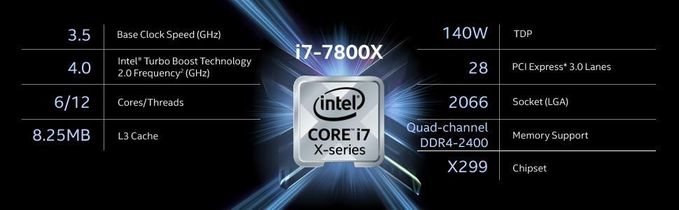 Intel i7, Intel X Series, BX80673I77800X