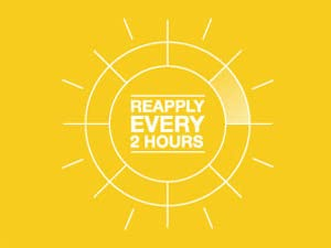 Reapply every 2 hours