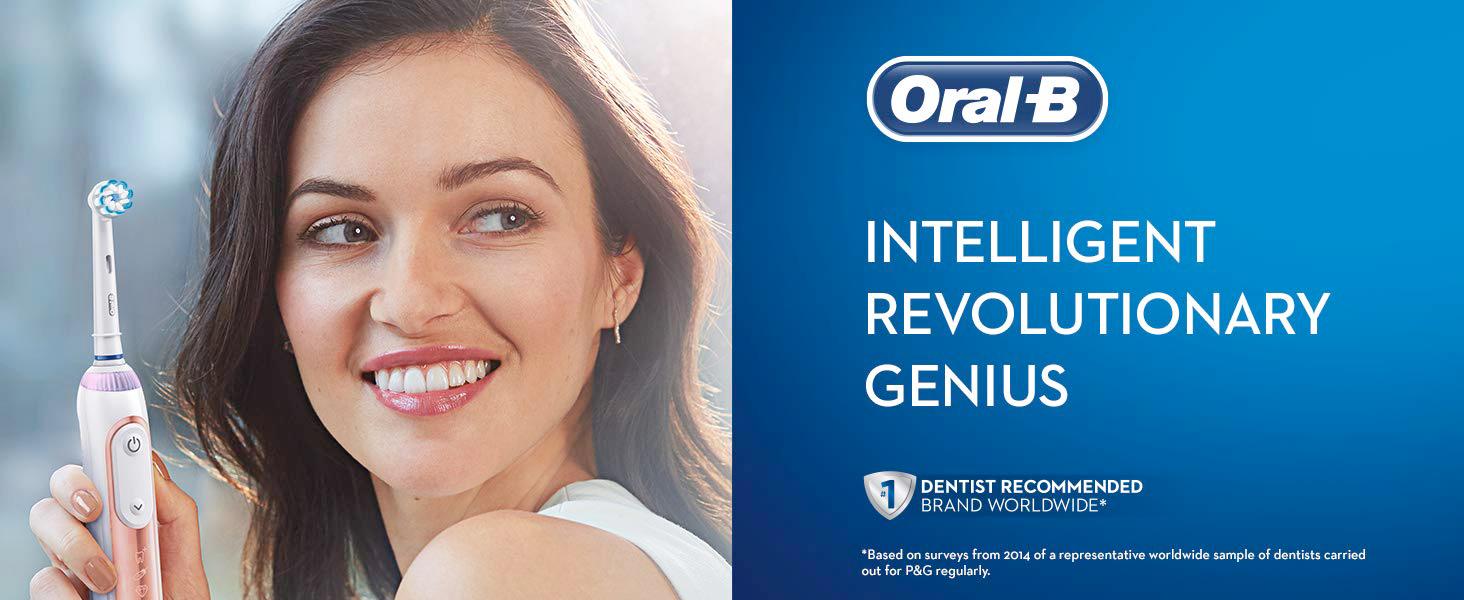 Oral-B Genius 8000 Rose Gold Electric Toothbrush Powered by Braun