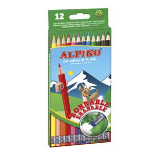 Alpino AL013654 - Estuche 12 lápices borrable, Única: Amazon.es: Oficina y papelería