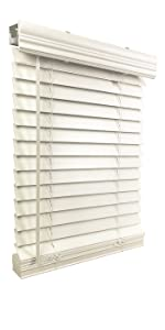 blinds, window blinds, faux wood blinds, fauxwood blinds, cordless blinds, 2 inch blind, white blind