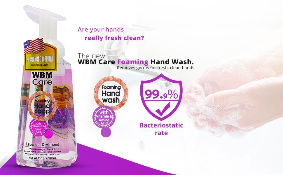 wbm foaming hand soap, foaming hand soap refill, natural hand saop, hand wash