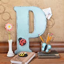 """Oversized Letter Can Be A Great Accent Piece Here We Have The Letter """"P"""" Decorated To A Tee"""