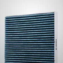Imagem do Filtro de Cabine Bosch para mostrar a eficiência da filtragem