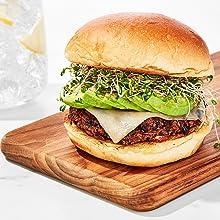 air fry airfryer burger french fries crisp insta bar food home cooking veggie vegan vegetarian meals