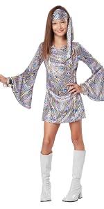 Disco, 70's, 1970's, GoGo Dancer, Seventies, girl's Costume, Halloween, Dance Costume, Recital
