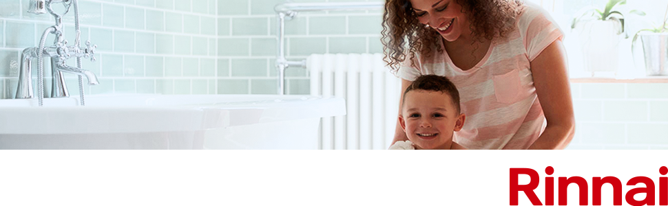 Rinnai brand intro image for tankless water heaters