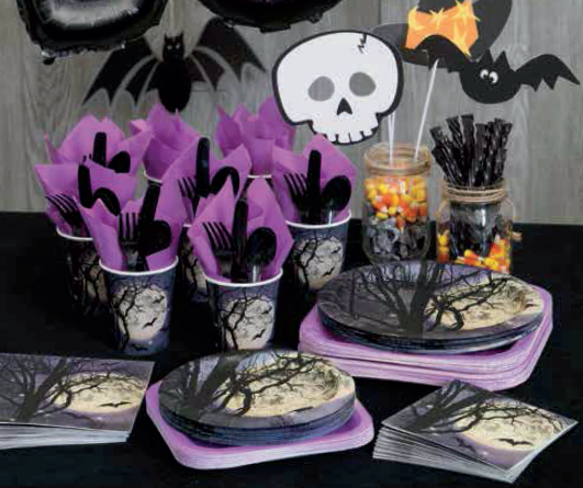 Happy Halloween Silver & Black Foil Banner 9ft Home, Furniture & DIY Party Supplies