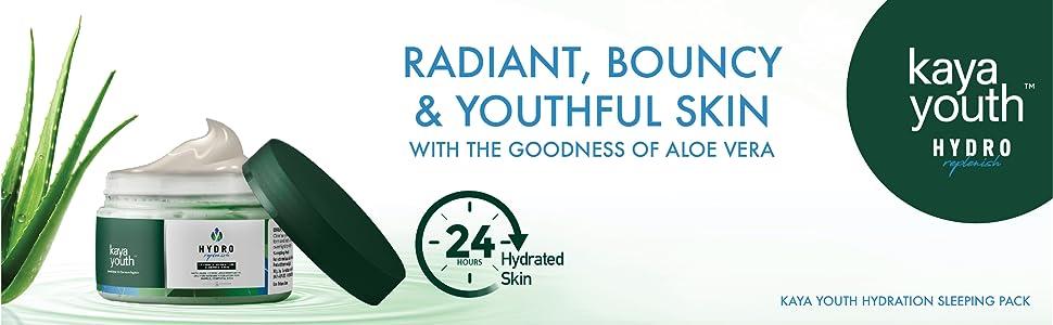 Sleeping mask;overnight;refreshing;aloe vera;hydration;radiance;24 hours;replenish;dermatologists