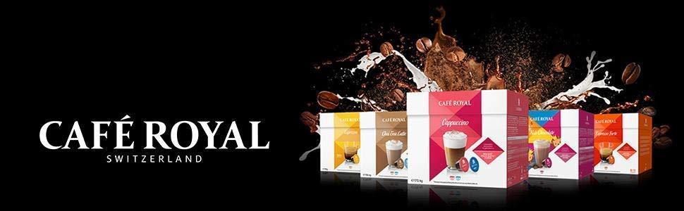 Café Royal Café con Leche 48 cápsulas compatibles con Nescafé* Dolce Gusto* - 3 x Pack de 16 cápsulas - certificado UTZ - de excelente Calidad Suiza