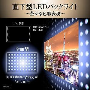 【高輝度の高い直下型LEDバックライト】