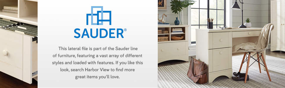 Amazon.com: Archivo lateral Sauder Harbor View, Madera ...