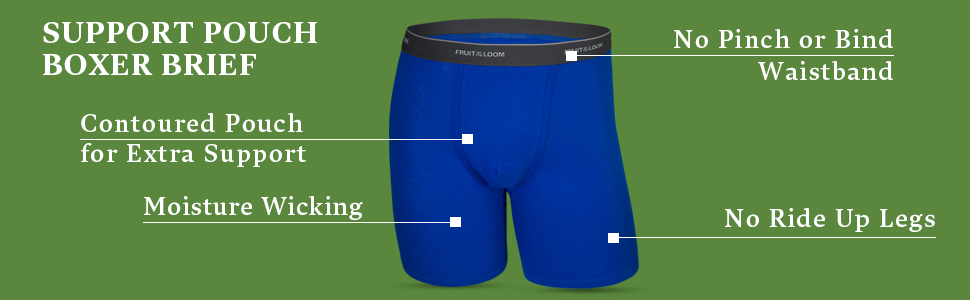 Fruit of the Loom Big Men/'s Support Pouch Boxer Brief