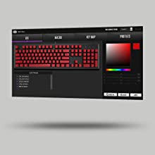 Cooler Master CK550 RGB Illumination Mechanical Gaming Keyboard Gateron Switches Blue Software