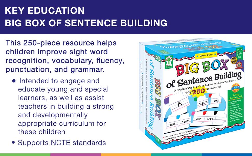 Key Education Big Box of Sentence Building Cards products description