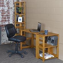 flip flop, bookcase, bookshelf,folding,collapsing,living room, shelves,open back,corner, oak
