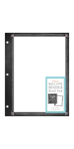 deluxe recipe binder favorite recipes refill sheets refill pages