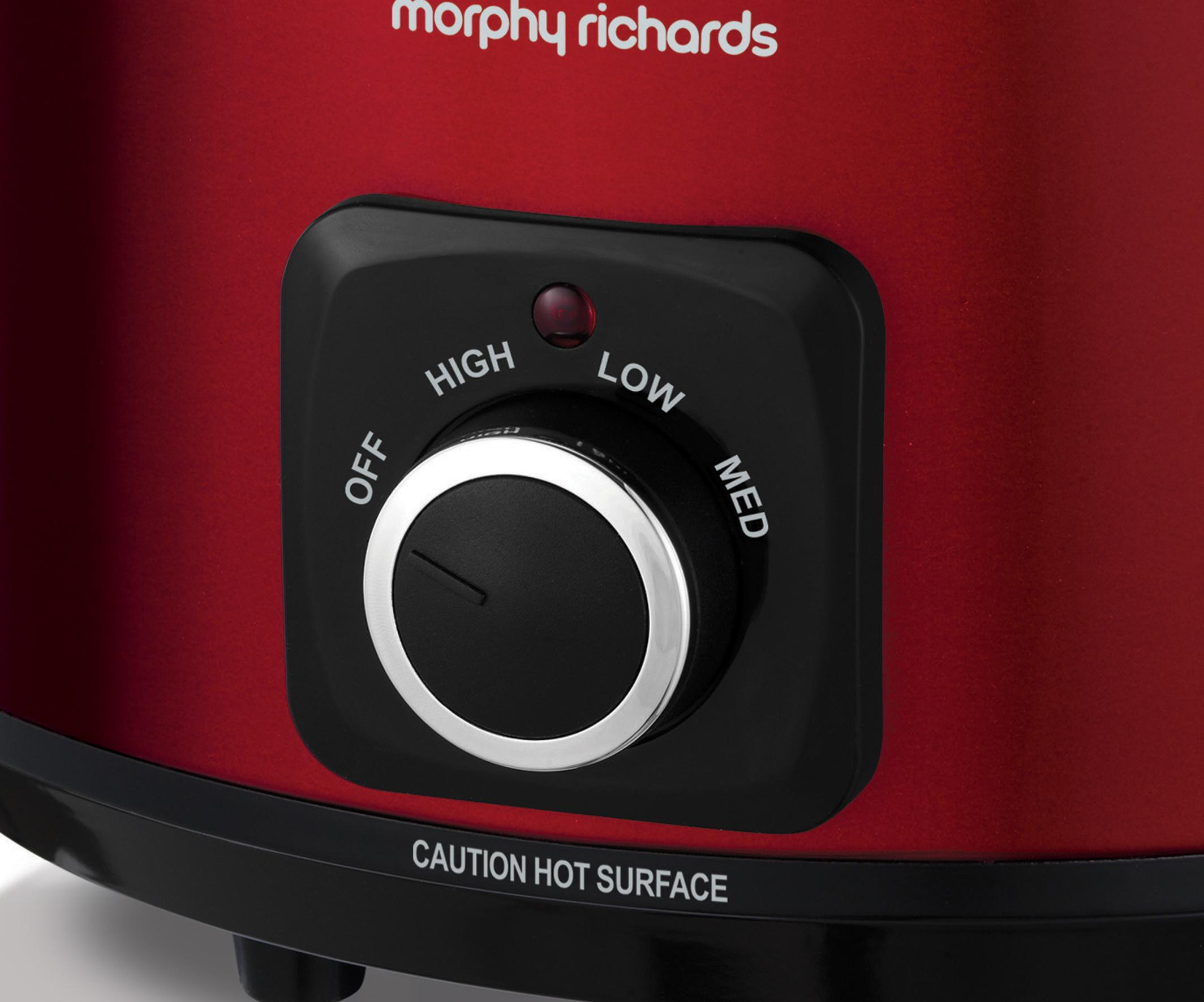 Morphy Richards Sear and Stew Slow Cooker 6.5L 461011 Red Slowcooker