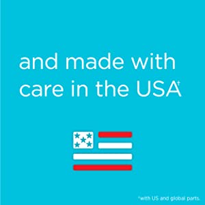 and made with care in the USA