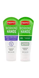 O'Keeffe's Working Hands and Night Treatment Combo Pack