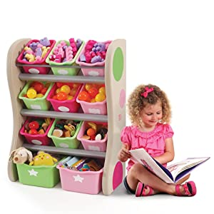 Amazon Com Step2 Fun Time Room Organizer And Toy Storage Pink
