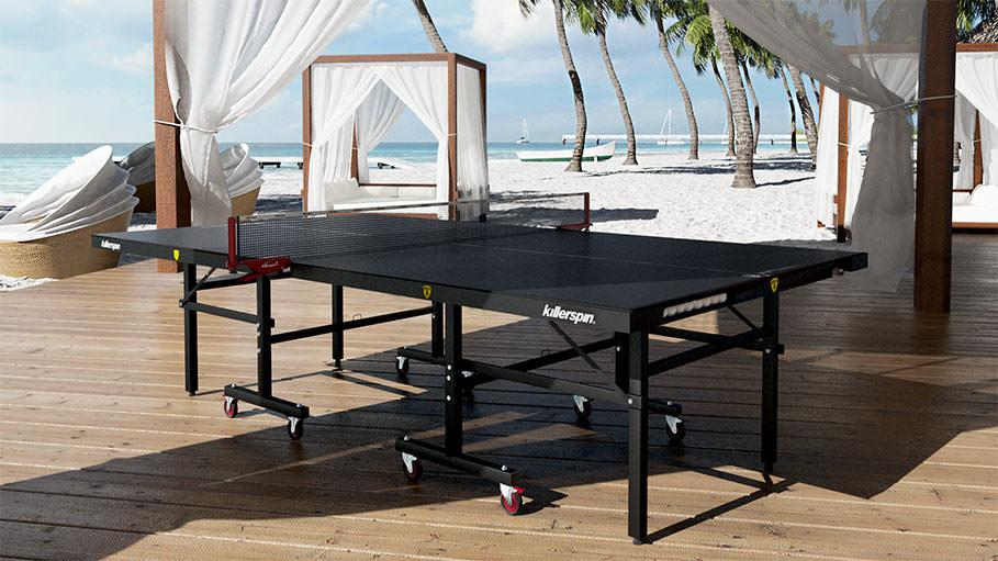 beach image play single solid green table outside wood royalty stock photo ping download sitting pong of resort free outdoor