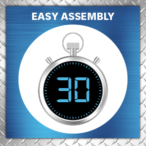 easy assembly, ready to assemble, wire rack