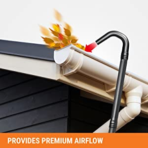 Worx Wa4092 Universal Fit Gutter Cleaning Kit For Blowers