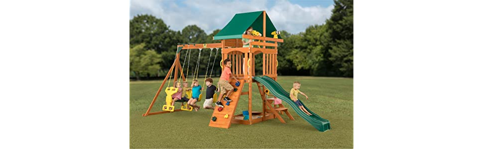sky view complete wooden playset