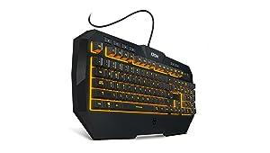 KROM Kodex - NXKROMKODEX - Pro Gaming Dual Kit con Teclado de Membrana y un ratón con hasta 6 Niveles de dpi, Color Negro: Krom: Amazon.es: Informática
