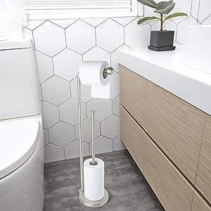 Toilet Paper Holder in Bathroom
