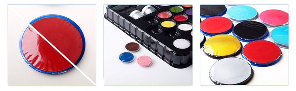 SNAZAROO FACE PAIN PALETTE 8 X 18ML COLOURS FOR YOUR  PARTY