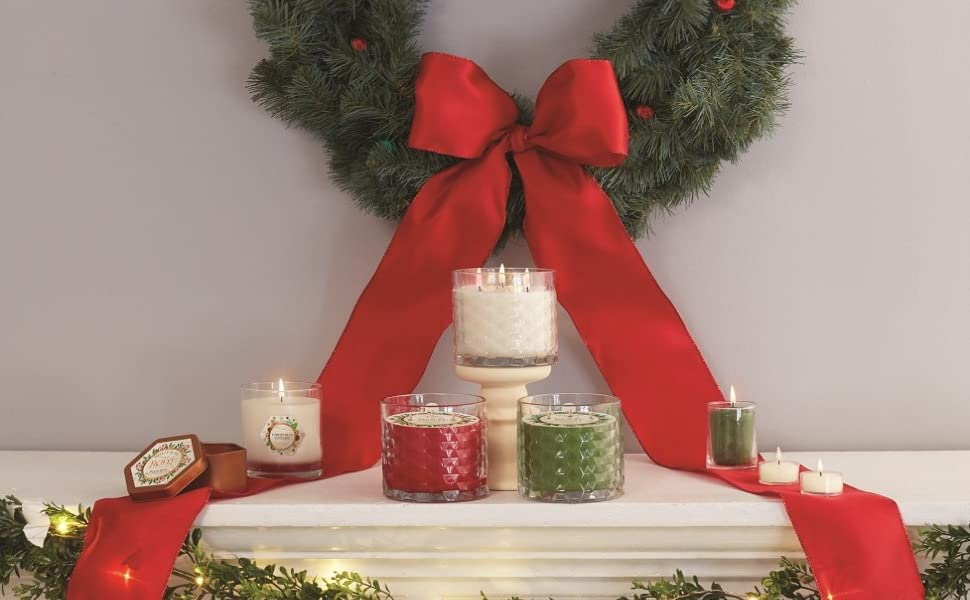 beeswax candles non toxic christmas xmas holiday tree cranberry gingerbread spice