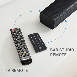 Works with TV remote