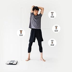 筋肉や脂肪の状態を「部位別」に細かく測定